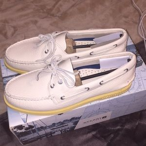 Sperry Shoes - Sperry Top-Sider A/O Ice (White) Size 9.5